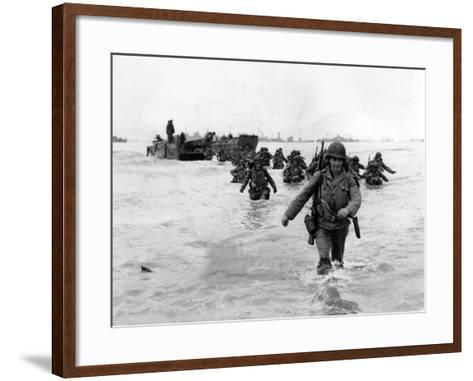 WWII Normandy Invasion-Bert Brandt-Framed Art Print