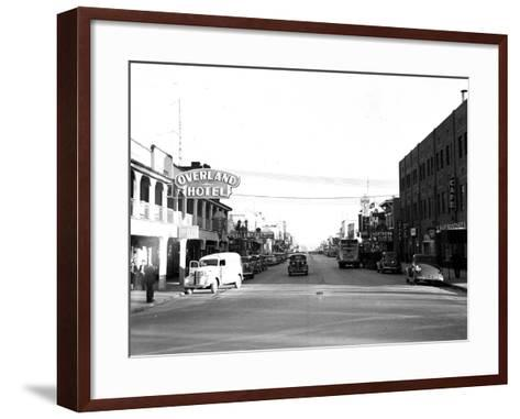 Main Street Las Vegas-TS-Framed Art Print