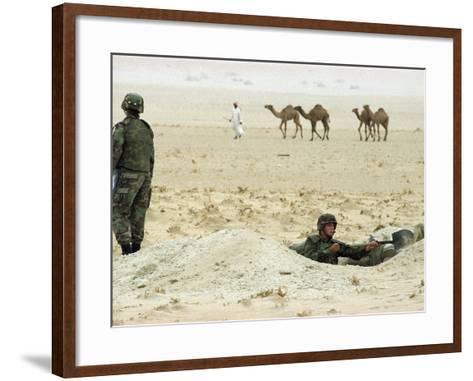 Kuwait US Intervention 1994-Peter Dejong-Framed Art Print