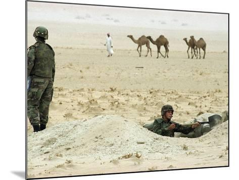 Kuwait US Intervention 1994-Peter Dejong-Mounted Photographic Print