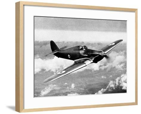 British RAF Hawker Hurricane--Framed Art Print