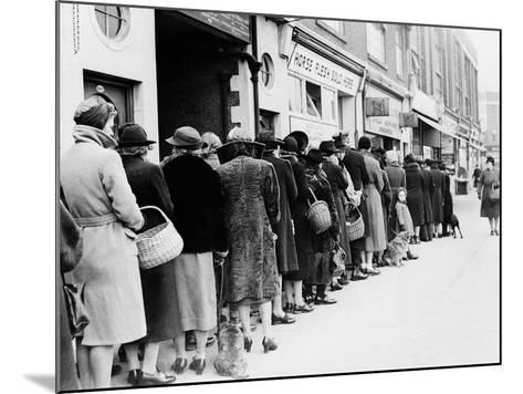 WWII Butcher Shop Line--Mounted Photographic Print