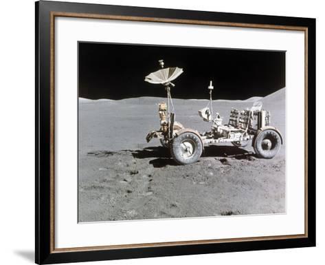 Apollo 15 Moon Surface 1971--Framed Art Print