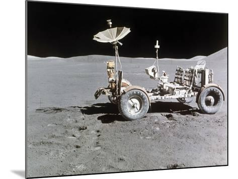 Apollo 15 Moon Surface 1971--Mounted Photographic Print