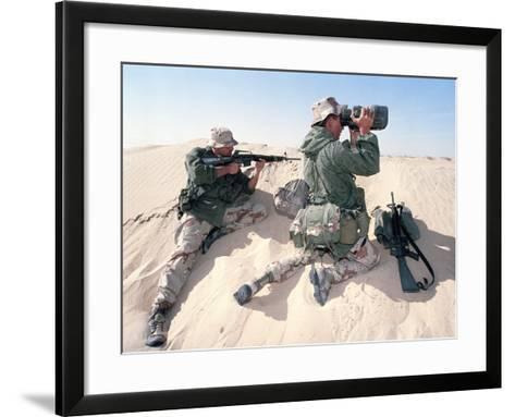 U.S. Marines Saudi Arabia-Dejong-Framed Art Print