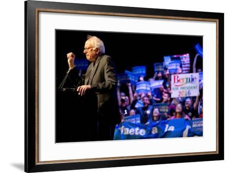 DEM 2016 Sanders-Jacquelyn Martin-Framed Art Print