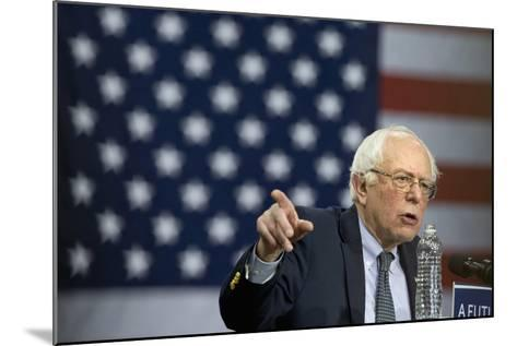 Campaign 2016 Trail - Bernie Sanders-Jacquelyn Martin-Mounted Photographic Print