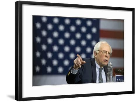Campaign 2016 Trail - Bernie Sanders-Jacquelyn Martin-Framed Art Print