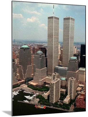 New York Landmarks Twin Towers-Ed Bailey-Mounted Photographic Print