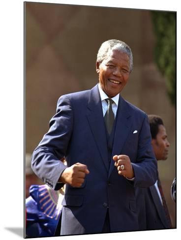 Nelson Mandela-John Parkin-Mounted Photographic Print