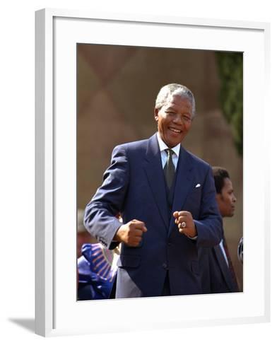 Nelson Mandela-John Parkin-Framed Art Print
