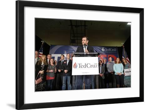 GOP 2016 Cruz-John Locher-Framed Art Print