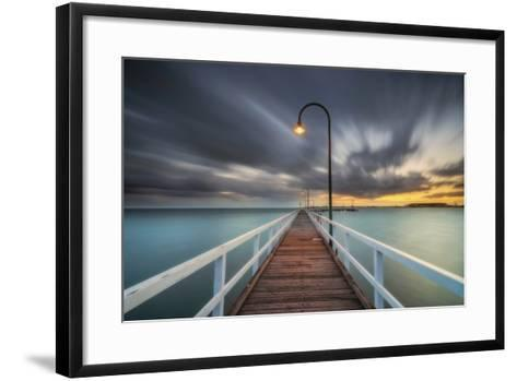 Lagoon Pier 2-Lincoln Harrison-Framed Art Print
