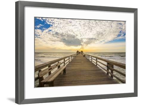 Naples Pier 3-Dennis Goodman-Framed Art Print