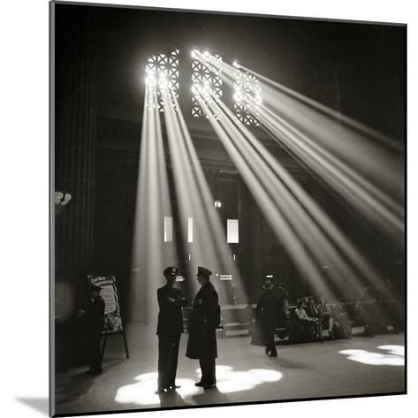 Police in Waiting Room of the Union Station, Chicago--Mounted Photographic Print