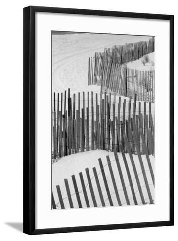 Beach Fencing 1 A-Jeff Pica-Framed Art Print