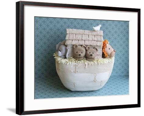 Noah's Ark Side View Bears--Framed Art Print