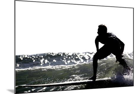 Surfing Silhouette I-Karen Williams-Mounted Photographic Print