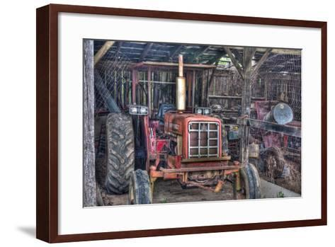 Old Tractor Shed-Bob Rouse-Framed Art Print