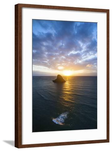 Chinamans Hat Sunrise-Cameron Brooks-Framed Art Print