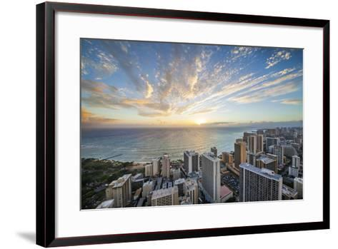 Waikiki Strip-Cameron Brooks-Framed Art Print