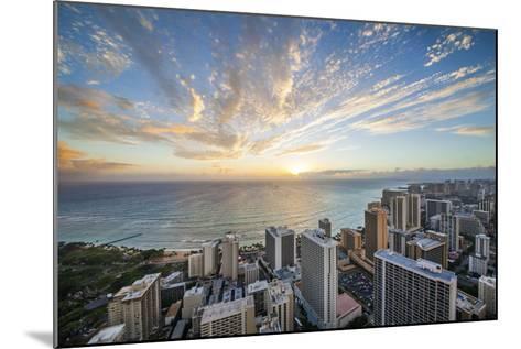 Waikiki Strip-Cameron Brooks-Mounted Photographic Print