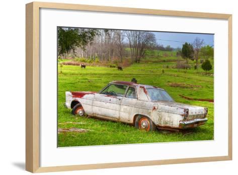'65 White Ford Custom-Bob Rouse-Framed Art Print