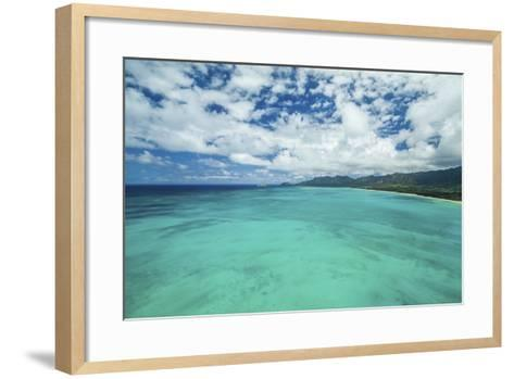 The Edge of Waimanalo-Cameron Brooks-Framed Art Print