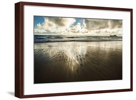 Waimanalo Beach Sunrise-Cameron Brooks-Framed Art Print