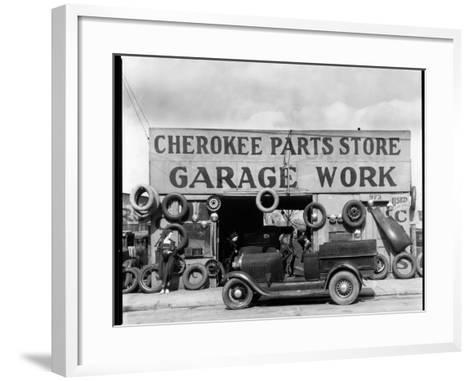 Auto Parts Shop, Atlanta, Georgia--Framed Art Print