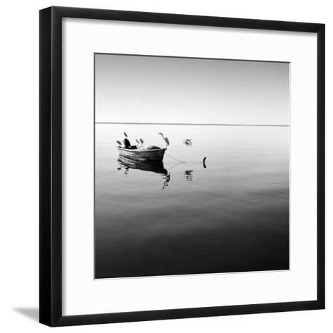 Boat and Heron II-Moises Levy-Framed Art Print