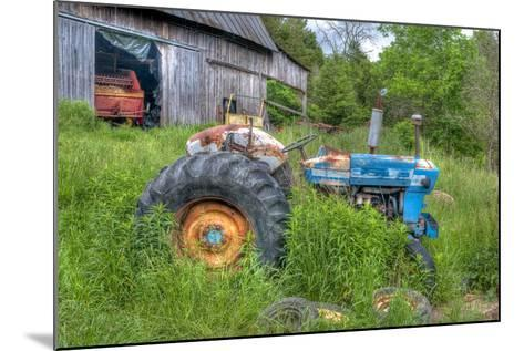 Blue Tractor-Bob Rouse-Mounted Photographic Print