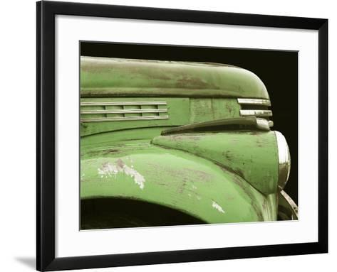 Chevy Streamline - Apple Green-Larry Hunter-Framed Art Print