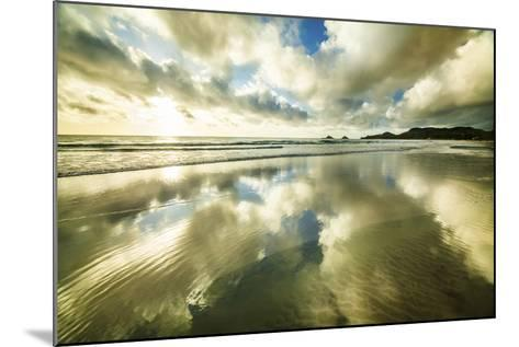 Kailua Beach Gold Streaks-Cameron Brooks-Mounted Photographic Print