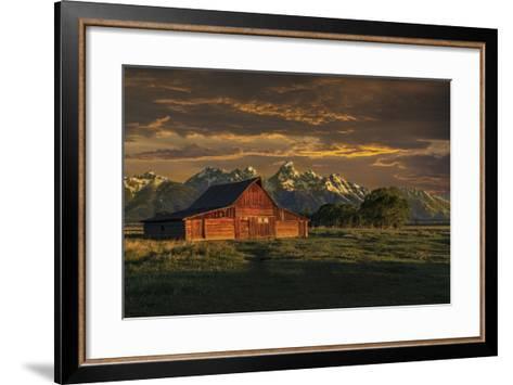 Moulton Barn Sunrise-Galloimages Online-Framed Art Print