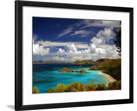 Trunk Bay-J.D. Mcfarlan-Framed Art Print