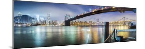 Brooklyn Bridge Pano 2-Color-Moises Levy-Mounted Photographic Print