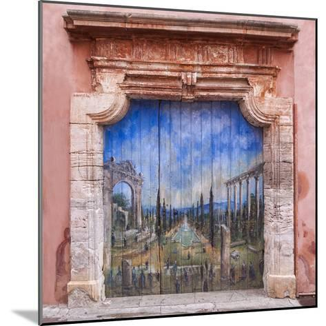 Old Painted Door-Michael Blanchette-Mounted Photographic Print