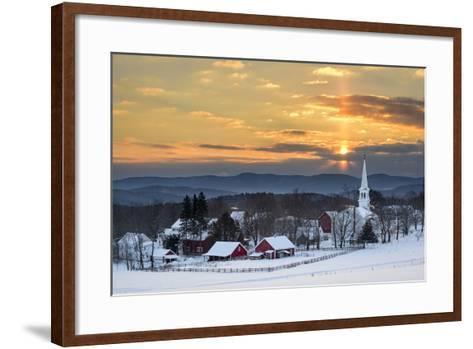 Peace over Peacham-Michael Blanchette-Framed Art Print