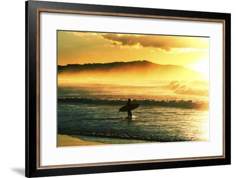 Sunrise Surf-Incredi-Framed Art Print