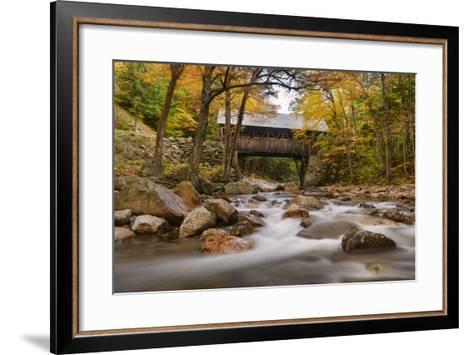 The Flume Bridge-Michael Blanchette-Framed Art Print