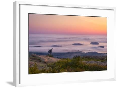 Islands in the Fog-Michael Blanchette-Framed Art Print