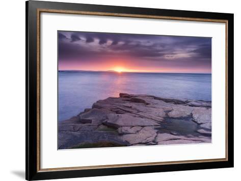 Granite Markings-Michael Blanchette-Framed Art Print
