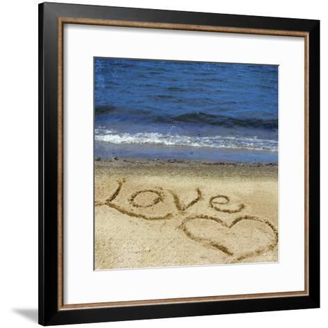 Love in the Sand-Kimberly Glover-Framed Art Print