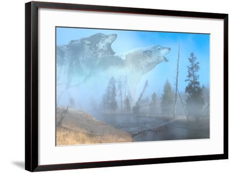 Spirits of Yellowstone-Gordon Semmens-Framed Art Print