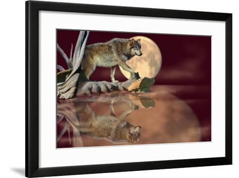Walking on the Moon-Gordon Semmens-Framed Art Print