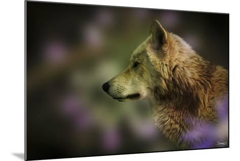 Wolf Profile HL2-Gordon Semmens-Mounted Photographic Print