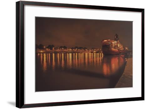 Paris Lost Boat-Sebastien Lory-Framed Art Print