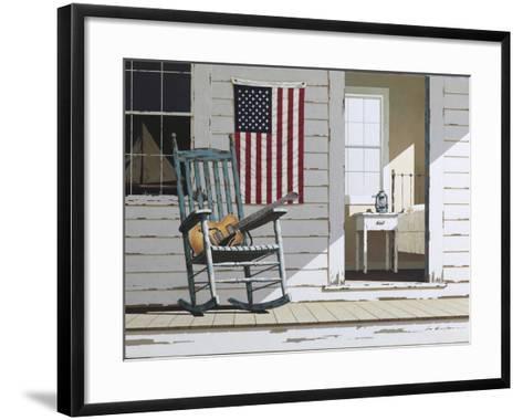 Rocking Chair with Guitar-Zhen-Huan Lu-Framed Art Print