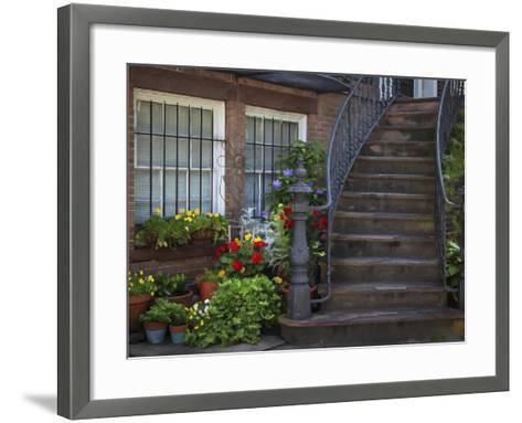 Townhouse Steps-J.D. Mcfarlan-Framed Art Print